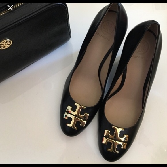 68064ae24 Tory Burch Raleigh Black Patent Leather Wedge. M 5a67ee2d8df4700ec8f43962